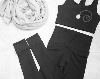 Traveler leggings in BLACK (lightweight stretch hemp)