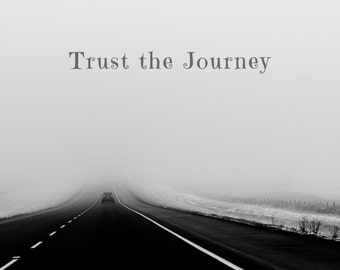 Trust the Journey, Photo Greeting Card, 4x5 inspirational cards, blank inside, travel, good luck, encouragement, move moving, support baby