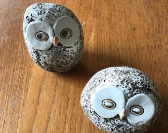 Set of ceramic Owls