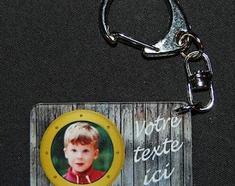 key chain personalized with 1 photo window