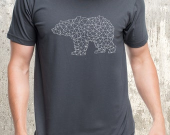 Men's T-Shirt - Bear Made of Triangles - Available in S, M, L, XL and 2XL