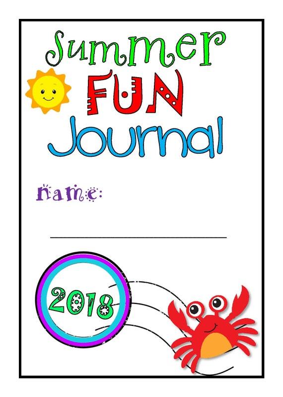 kids summer guided journal   vacation journal  children u0026 39 s