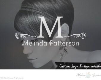 custom logo design watercolor monogram logo fashion logo vintage logo business logo jewelry logo boutique logo Etsy shop logo website logo