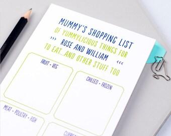 Shopping List - Shopping Pad  - Grocery List - List Note Pad - To Get Pad - Grocery Shopping Notepad - personalised