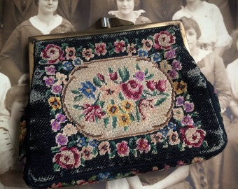 This Antique Petite Needlepoint Coin Purse Has All Things Beautiful