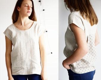 Linen blouse, Natural linen blouse, Vacation shirt ideas, Linen clothes, Womens linen clothing, Linen shirt women
