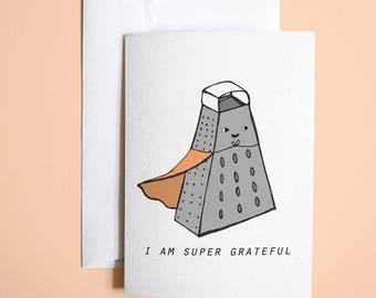 I am Super Grateful // greetings card // stationery // Mother's Day greetings card // illustrated greetings card // unique greetings card