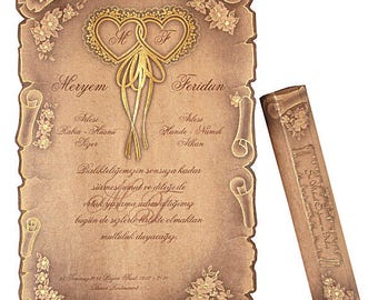 Scroll invitations Etsy