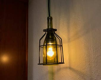 A Wine Bottle Pendant Light