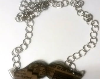 """handmade necklace """"Thank You"""", Hipster, Industrial,vintage, Upcycled, Urban, Punk, Kitsch, Geekery, Humor"""