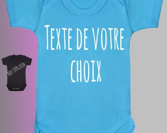 BODYSUIT 100% cotton baby text of your choice