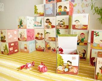 Advent calendar - Christmas calendar -printable Christmas - by Monopache