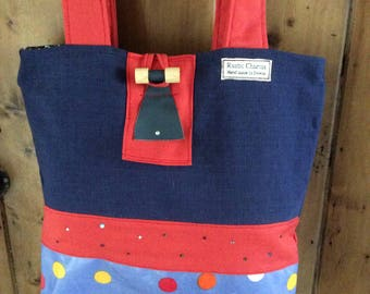 Large colourful tote