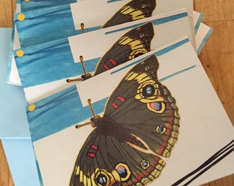 Moth box of ten  blank note cards