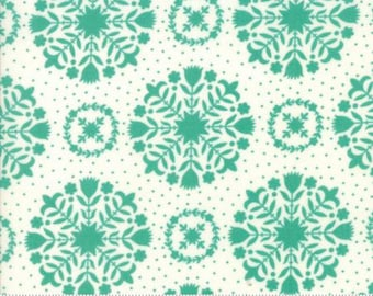 Handmade Olivia Teal 55141 15 by Bonnie and Camille from Moda -1 yard