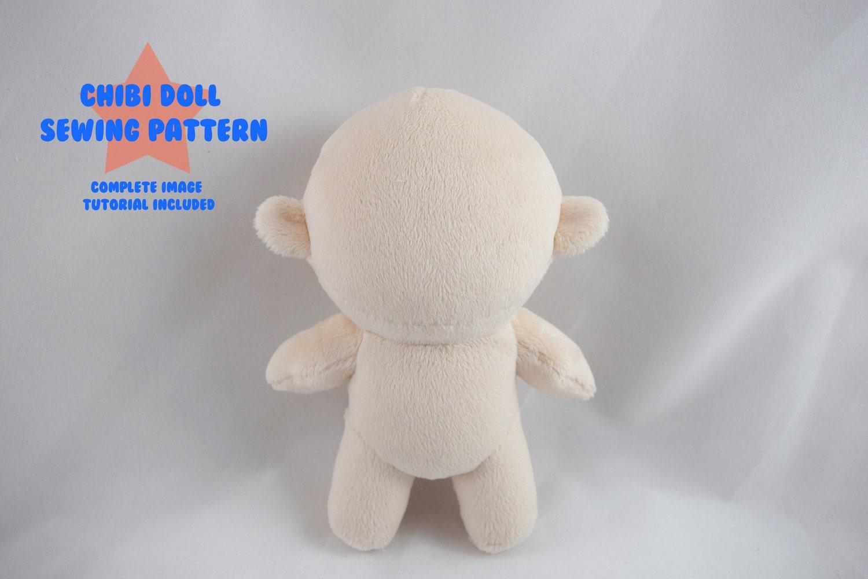 Amigurumi Chibi Doll : Planetplush chibi doll minky plush pattern