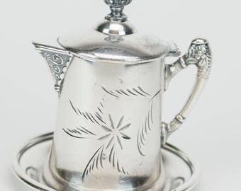 Van Bergh Silver plate Syrup Pitcher