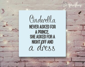 Personalised Cinderella Quote Canvas Print