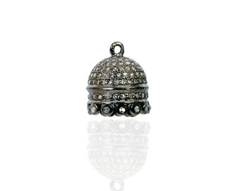 Silver Diamond Tassel Charm ESDC1879