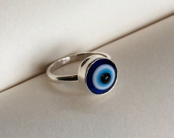 Evil Eye - Sterling Silver Ring
