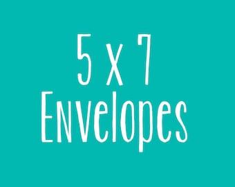 5x7 Invitation Envelopes (White)