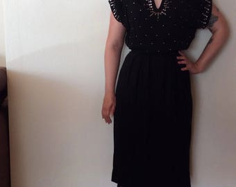 Vintage 1940s studded dress. As is