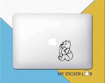 Winnie The Pooh MacBook Sticker Pooh MacBook Decal Pooh Sticker Cartoon Pooh Decal Pooh Bear Teddy Bear Disney MacBook Decal Vinyl m106