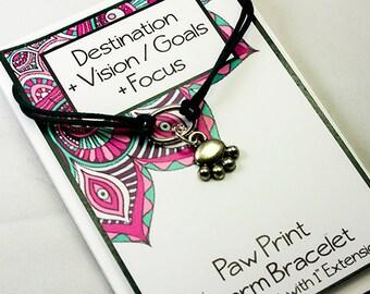 Dog Paw Bracelet - Wish Bracelet - Set Your Intention - Positive  Daily Reminders INT025