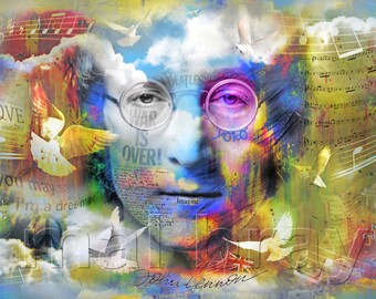 John Lennon Imagine Print Poster