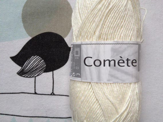 WOOL Comet natural - white horse