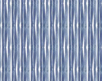Blue Ocean Stripe Organic Fabric - By The Yard - Boy / Blue