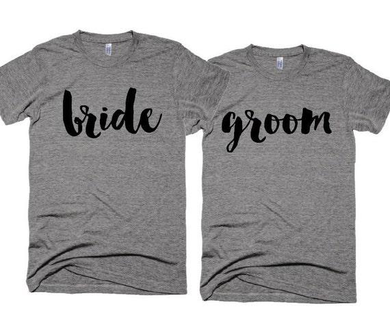 Wedding Tshirts - bride t-shirt - groom t-shirt - Wedding Photo shoot Props - Cliche Zero 377p2