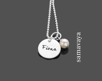 Name chain simply 925 silver necklace with engraving