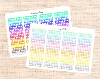 Hydrate, Drink Water (56 matte planner stickers, fits perfect in Erin Condren Vertical Planner)