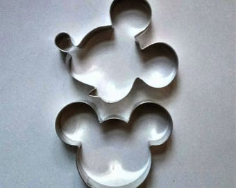 Mickey Mouse Theme Cookie Cutter Fondant Biscuit Pastry Stainless Steel Baking Mold Set