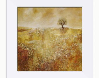 Autumn Landscape Picture - Limited Edition Fine Art Print, Original Artwork by Tracey Zorek