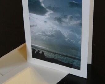 Caribbean Beach photo card