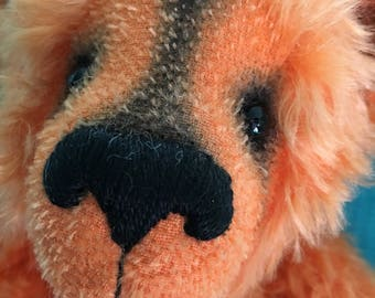 Geoff, Ooak mohair artist bear collectible heirloom Alaine Ferreira, Bearflair