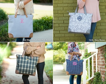 Monogrammed Shoulder Bag, Monogrammed Tote Bag, Bridesmaid Gifts, Christmas Gifts, Carry On Bag, Luggage Set, Travel Tote, Group Discounts