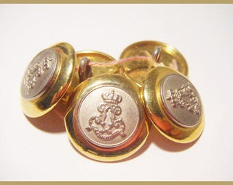 5 buttons Silver Gold - sewing or scrapbooking
