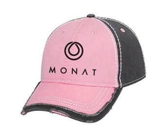 Pink Monat Hat, Monat Hat, Monat Cap, Monat Product, Embroidered Hat, Embroidered Monat Cap, Monat Accessories, Hat, Cap, Monat