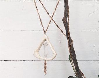 Infinity Bone Necklace