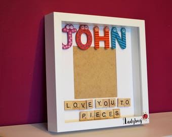 Personalised Scrabble Name Frame, Perfect Gift for a Child