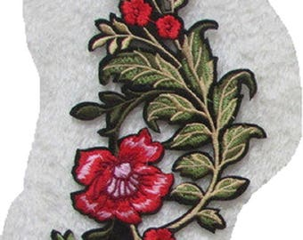 C5830 - Stem flowers * 9 X 20 cm * Applique badge patch embroidered iron - iron