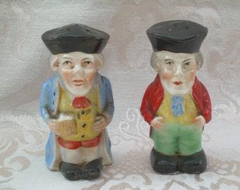 Vintage Czechoslovakian Salt and Pepper Shaker Set of Czech Men