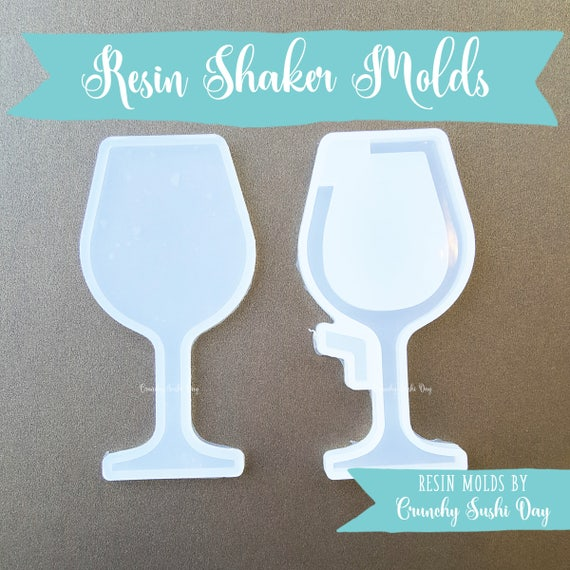 Wine Glass Resin Mold, Resin Shaker Mold, Silicone Mold, Epoxy, Shaker Mold, Charm Mold, Kawaii, Resin Mold, Hollow Mold, UV Resin Mold