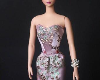 Pink Barbie doll clothes, Silkstone Barbie, Silkstone Barbie doll, silk Barbie clothes, Repro Barbie, Vintage Barbie