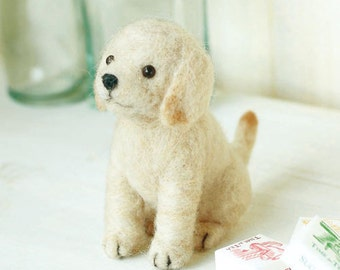 DIY Needle wool felt retriever KIT Japanese craft kit