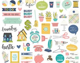 SALE Simple Stories Domestic Bliss Bits & Pieces