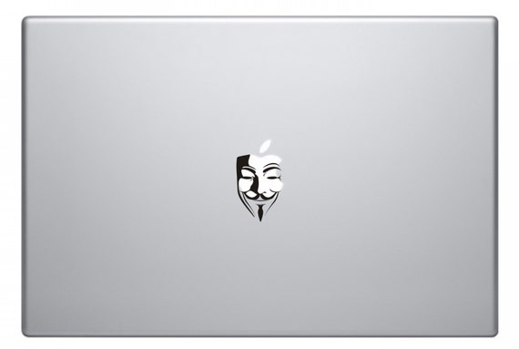 V for vendetta anonymous macbook decal macbook stickers